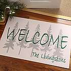 Evergreen Welcome Personalized Doormat