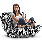 Big Joe Roma Zebra Print Floor Chair