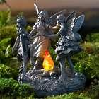 Dancing Fairies Sculpture with Solar Fire