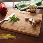 Engraved Family Name Bamboo Cutting Board