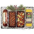Wisconsin Holiday Cheese, Sausage, Fudge, and Nut Tray