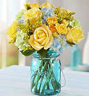 Large Coastal Garden Yellow Rose Bouquet