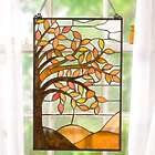 "Stained Glass 24"" Autumn Tree Panel"