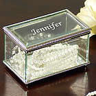 Personalized Beveled Glass Jewelry Box
