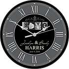 Love Personalized Black and White Wall Clock