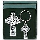 Celtic Cross Visor Clip and Key Ring Set