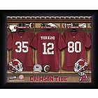 Personalized Alabama Crimson Tide Locker Room Print