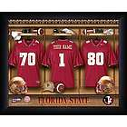 Personalized Florida State Seminoles Locker Room Print