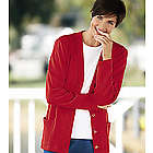 Women's Plus Size Button-Front Knit Cardigan
