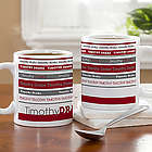 Signature Stripe Personalized Mug