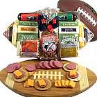 Football Cutting Board with Snacks Gift Basket