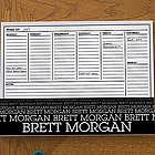 Optic Name Personalized Small Calendar Desk Pad