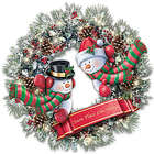 Thomas Kinkade Light Up Holiday Wreath