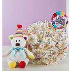 Happy Birthday Confetti Bouquet and Plush Bear