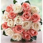 18 Lovely Pink and White Mom Roses Bouquet