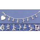 Personalized Frog Lover's Charm Bracelet