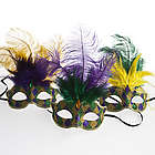 Mardi Gras Glitter Venetian Feather Mask