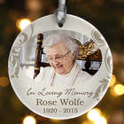 Personalized Photo In Loving Memory Christmas Ornament