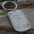 Tree Carving Heart Personalized Key Chain