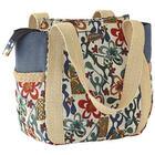 Floral Jute Tote Bag