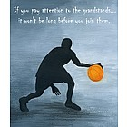 Basketball Shadow Personalized Print