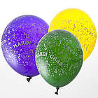 Wild and Crazy Mardi Gras Balloons