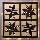 Lighted Patriotic Patchwork Metal Wall Art