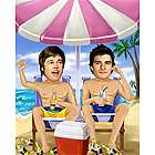 Life's a Beach Guy's Caricature from Photos Print