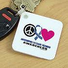 Peace Hope Love ALS Awareness Key Chain