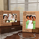 Personalized Bridesmaids Poem Wooden Picture Frame