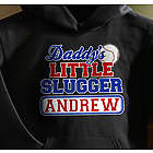 Personalized Daddy's Little Slugger Sweatshirt