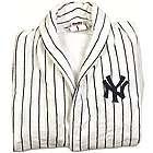 New York Yankees Pinstriped Terrycloth Bathrobe