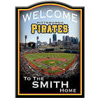 Pittsburgh Pirates Personalized Wooden Welcome Sign