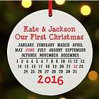 Personalized Day to Remember First Christmas Round Ornament