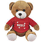 Plush Bear with Personalized Red T-Shirt