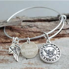 United States Navy Adjustable Wire Bracelet