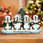 Personalized Family of Penguins Table Topper