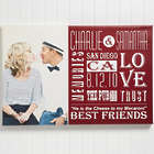 Couple's Our Life Together Custom Photo Canvas Print