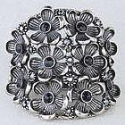 Floral Bouquet Cluster Metal Bracelet