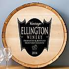 Family Crest Personalized Wine Barrel Sign