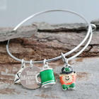 St. Patrick's Day Green Bangle Bracelet