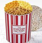 3.5 Gallons of 3-Way Popcorn in TPF Retro Red Stripe Tin