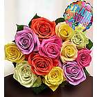 Thank You 12 Stem Assorted Rose Bouquet