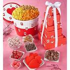 Be My Valentine Popcorn Gift Tin and Tower of Treats