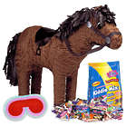 Horse Pinata with Blindfold and Candy