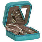Josette Faux Leather Travel Jewelry Case in Turquoise