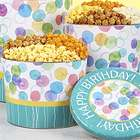Say It With Dots 3.5 Gallon 4-Flavor Popcorn Tin