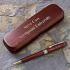 Graduation Engraved Pen Case Set in Rosewood