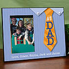 Personalized Number 1 Dad Printed Frame