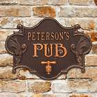 Personalized Pub Plaque with Hops & Barley Theme
